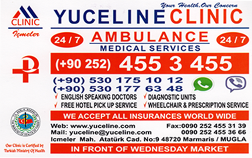 Yuceline Clinic Icmeler - Click to visit F.A.Q page