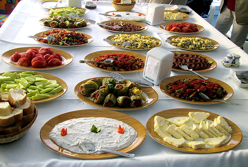turkish cusine and meals mezes